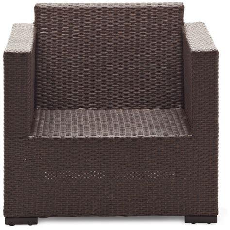 strathwood griffen all weather wicker chair dark brown