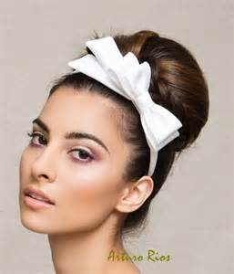 headbands with bows white bridal satin bow on a headband wedding bow