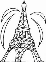 Coloring Pages Tower Eiffel Printable sketch template
