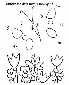 Kindergarten Connect The Dots Coloring Home