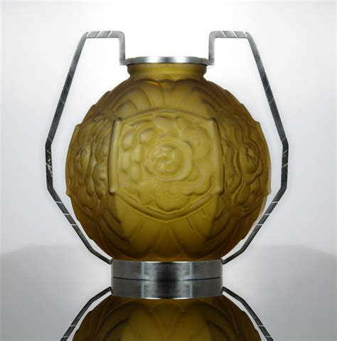 outstanding 1920s deco glass vase by c l a ebay