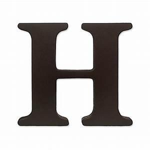 """kidsline™ Espresso Wooden Letter """"H"""" - Bed Bath & Beyond"""