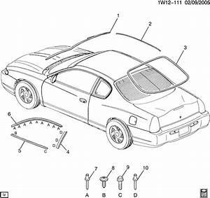 2004 Chevrolet Monte Carlo Ss Molding  Front Door Window