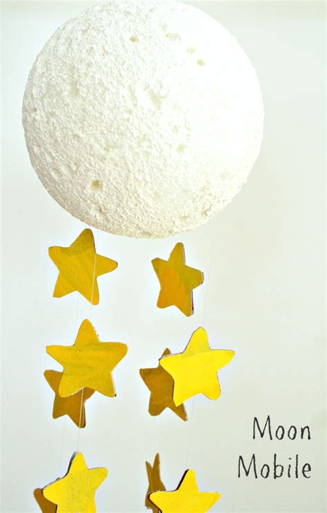 moon craft mobile for fantastic amp learning 133 | Moon Mobile Craft for Kids...and a great new childrens picture book about the moon