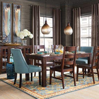 corinne linen cornflower dining chair pier  imports