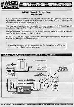 Autometer Tach Wiring Msd - Msd 6al Tach Wiring Diagram 92 Ford Fiesta  Engine Diagram Wiring Diagram Schematics - It shows the components of the  circuit as simplified shapes, and the faculty   Sport Comp Tach Wiring Diagram To Msd Ing      wiring diagram 7 pin trailer plug
