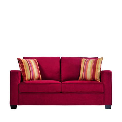 Sofa Pillows Shopping by Portfolio Madi Crimson Microfiber Sofa With Wine