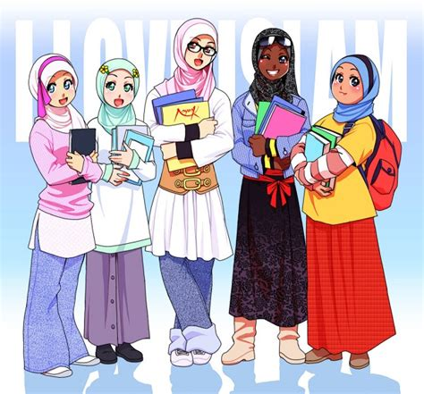 Anime Cantik Islami Wallpaper Gambar Kartun Muslimah Keren Terbaru Deloiz