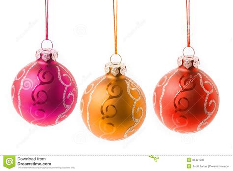 christmas baubles hanging royalty free stock image image
