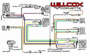 1974 Corvette Corvette Air Conditioning Schematic