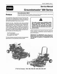 92801sl Pdf Groundsmaster 300 Series  Rev I  Dec  2007 By
