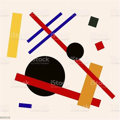 Suprematism Illustration Composition Square Abstract Flat Vector