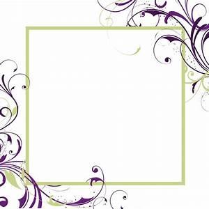 blank wedding invitations square white purple green floral With blank square wedding invitations