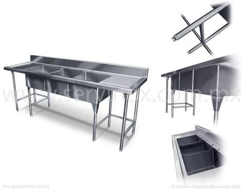 fregadero triple tarja en acero inoxidable fregadero   tarjas fabricado en acero inoxidable