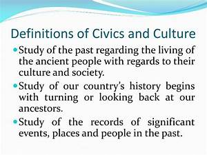 PPT - Civics an... Civics Definition
