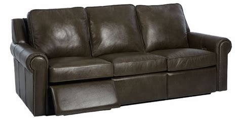 oversized dual leather reclining sofa club furniture