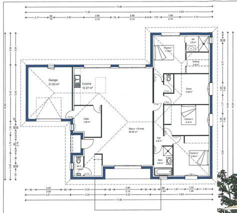 plan de masse maison classique maison moderne