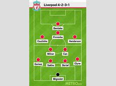 Liverpool news The potential Liverpool starting XI built