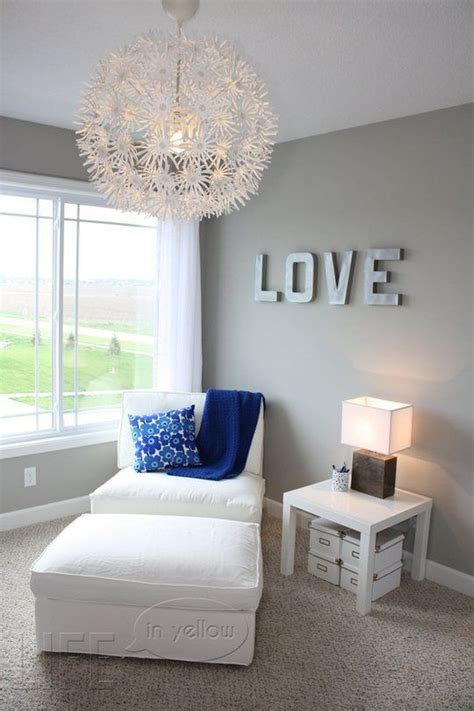 grey room white trim brown furniture gray blue and