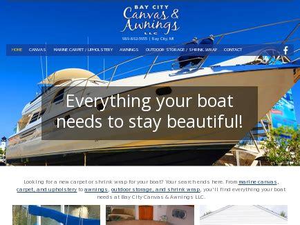 Boat Canvas Bay City Mi bay city canvas awnings llc boat canvas bay city
