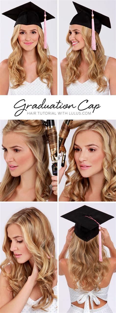 best hairstyles for graduation cap hair