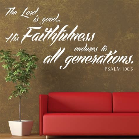 psalms  scripture bible wall quote  lord  good