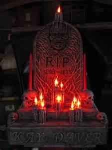 DIY Halloween Graveyard Tombstones