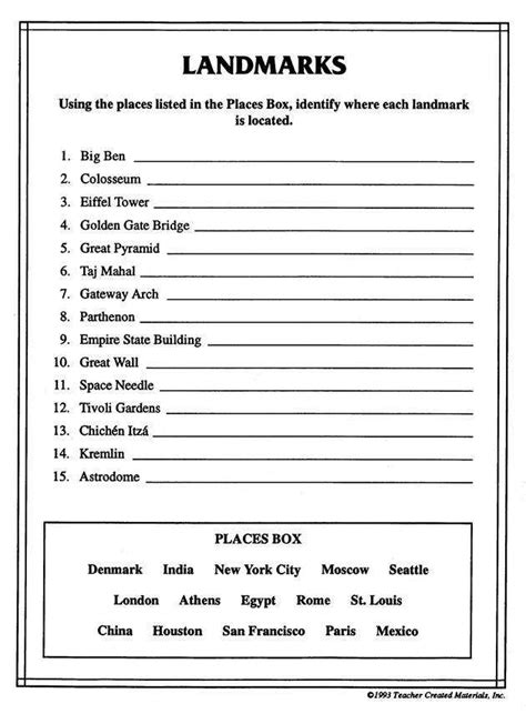 worksheets for 5th grade geography kidz activities