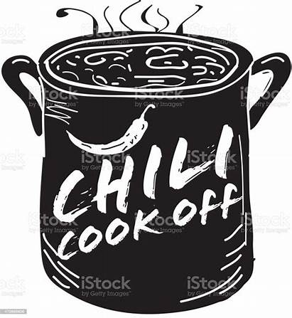 Chili Pot Cookoff Vector Icon Event Cooking