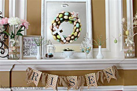 easter mantel homespun with love pastel easter mantel