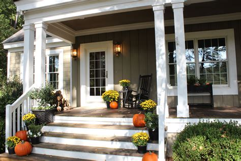 front steps fall front porch decor house entrance