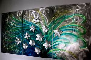 Floral art metal wall sculpture abstract home decor for Best brand of paint for kitchen cabinets with wire sculpture wall art