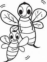 Bee Coloring Pages Cartoon Printable Bumble Bees Print Rocks Cute Colorings Getdrawings Drawing Getcolorings sketch template