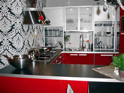 Create Incredible Kitchen With Red Kitchen Cabinet