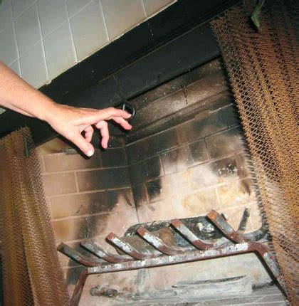 How To Open A Chimney Damper   Traditional Fireplace