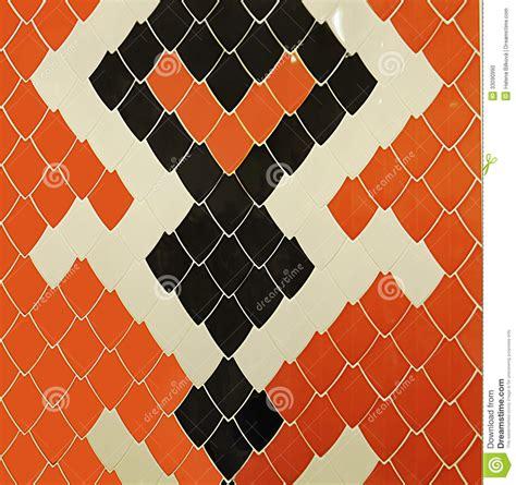 tiles snake design pattern background stock photo image