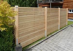 Sichtschutz Holz Waagrecht 68mm