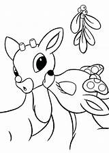 Reindeer Coloring Pages Children Cool Animal sketch template