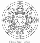 Celtic Snowflake Medallion Coloring Mandala Circles Digital Quilting Pattern Circle Quilt Patterns Drawing Intelligentquilting Harrison Colouring Mandalas Tattoo Sherry Rogers sketch template