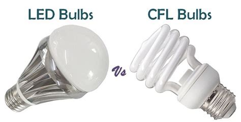 difference between led and cfl bulbs with similarities