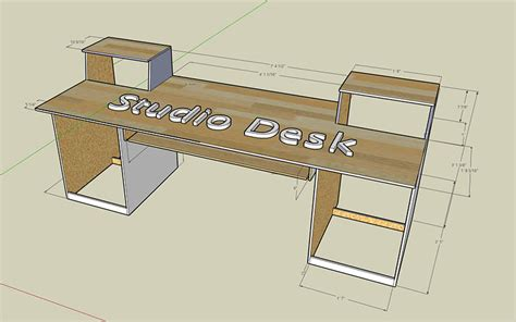 diy studio desk plans  ideas thehomeroute