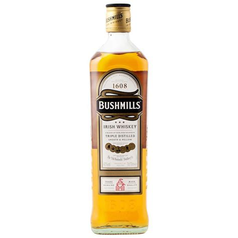 valentines day gift bushmills whiskey distilled 700ml