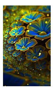 radiant flowers   Fractal art, Wallpaper nature flowers ...