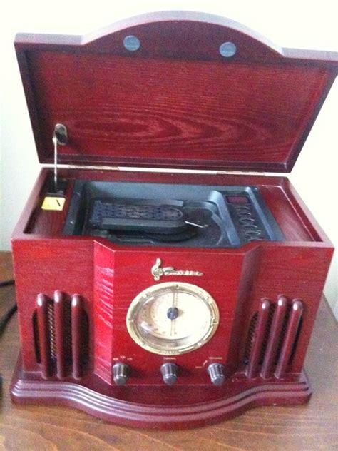 desk radio cd player nr51rw stereo radio classic emerson am fm cd player table