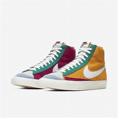 Nike Blazer 77 Mid Multicolor Sneakers Suede