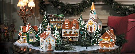complete christmas village sets festival collections