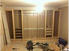 PAX traditional fitted wardrobe hack Ikea pax wardrobe