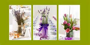 blumen im haar hochzeit tischdeko einfache dekoration mit frühlingsblumen
