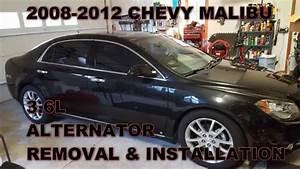 Chevy Malibu Alternator Replacement 2008 - 2012