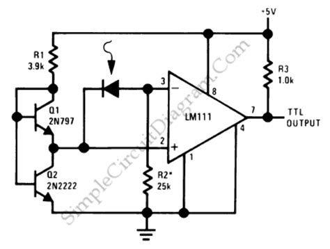 Precision Photodiode Comparator Simple Circuit Diagram